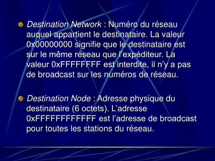 Destination Network