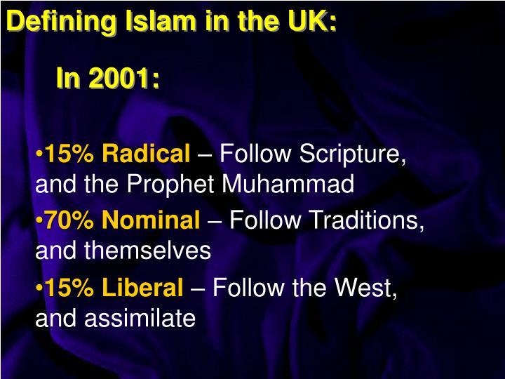 Defining Islam in the UK: