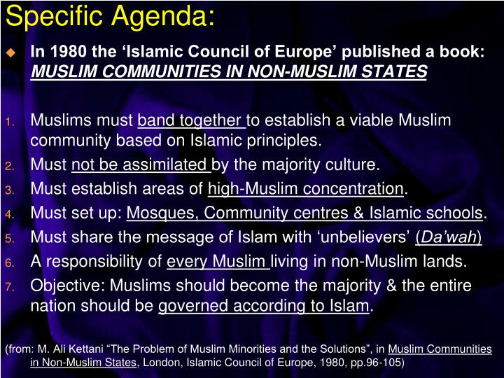 In 1980 the 'Islamic Council of Europe' published a book: