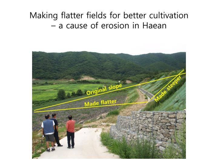 Making flatter fields for better cultivation