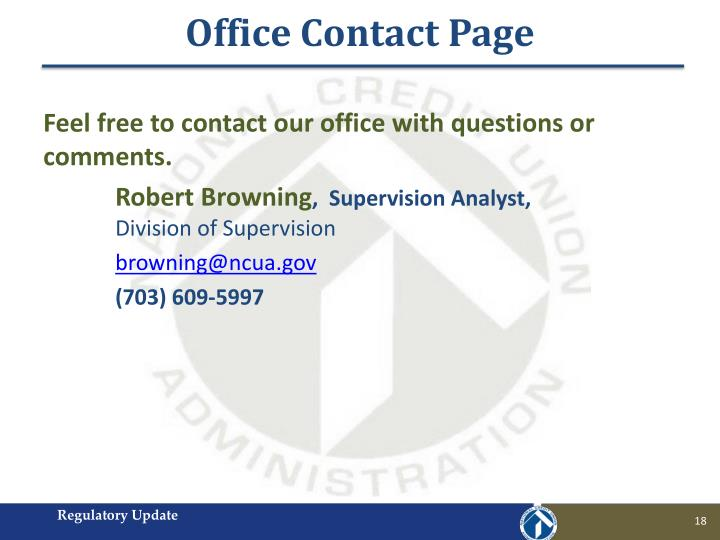 Office Contact Page