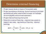 determine external financing