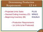 determining production requirements lt 4 4
