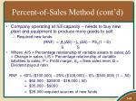 percent of sales method cont d1