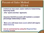 percent of sales method lt 4 6