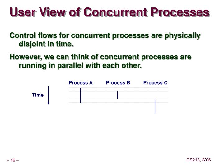 User View of Concurrent Processes