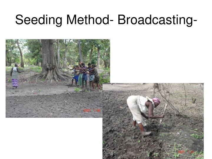 Seeding Method- Broadcasting-