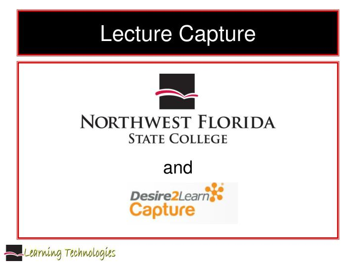 lecture capture n.