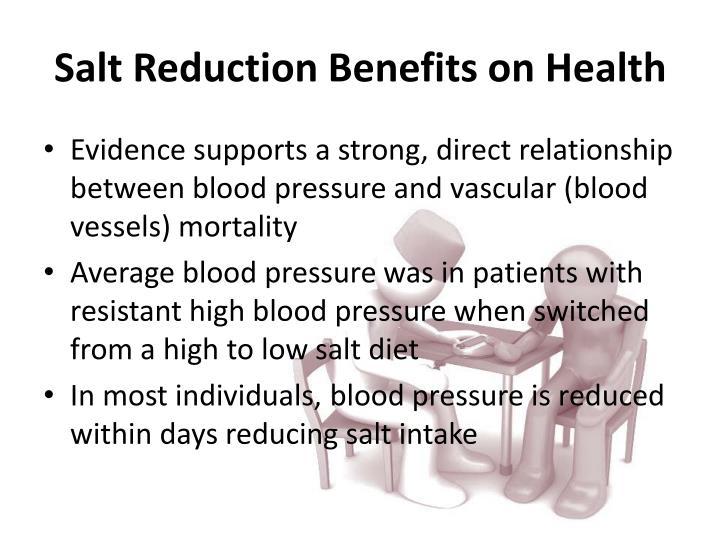 Salt Reduction Benefits on Health