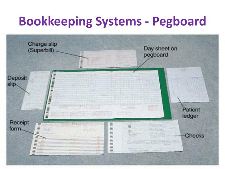 Bookkeeping Systems - Pegboard