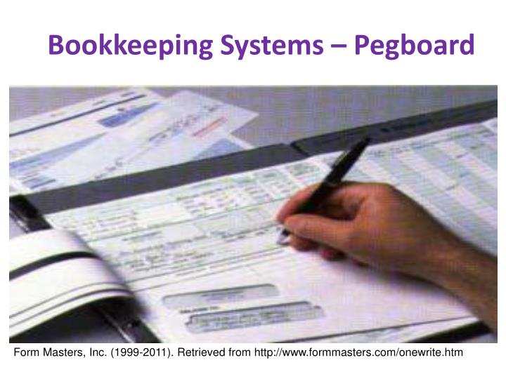 Bookkeeping Systems – Pegboard