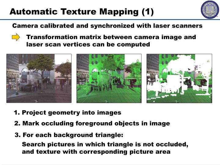 Automatic Texture Mapping (1)