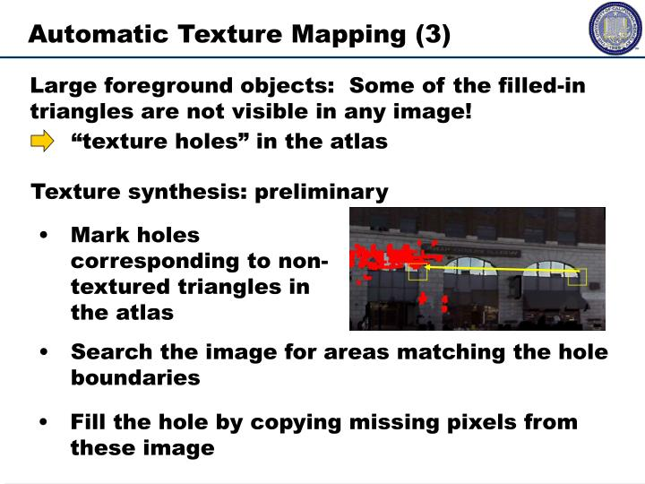 Texture synthesis: preliminary