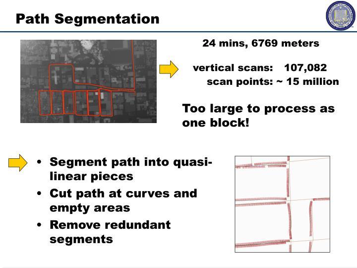 Segment path into quasi-linear pieces