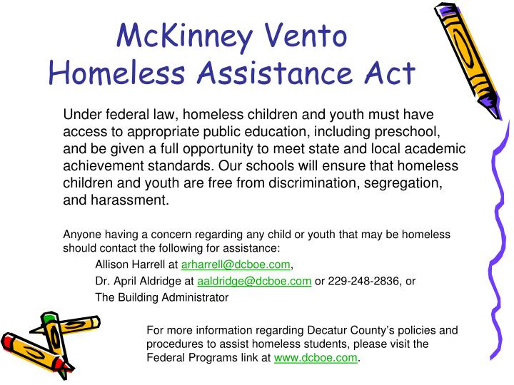 McKinney Vento Homeless Assistance Act