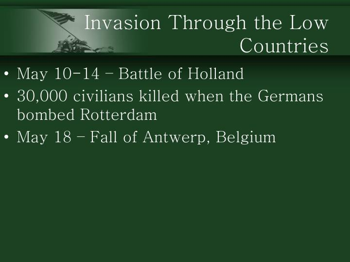 Invasion Through the Low Countries