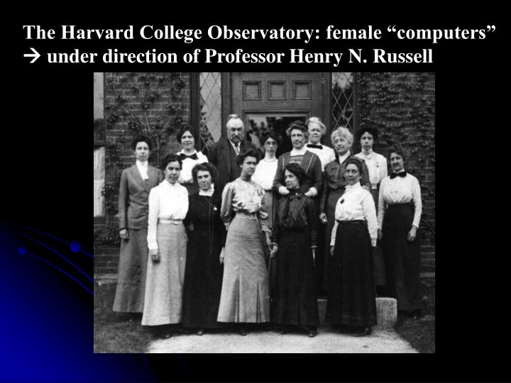 """The Harvard College Observatory: female """"computers"""""""