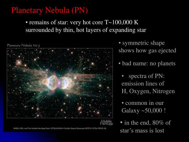 Planetary Nebula (PN)
