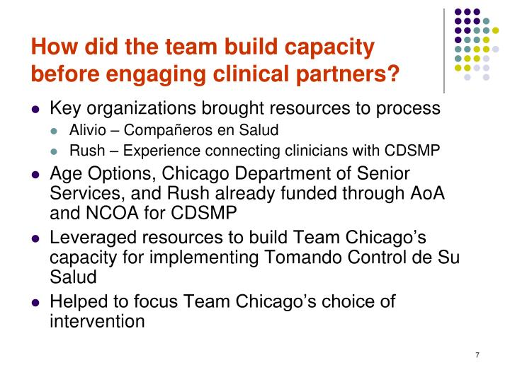 How did the team build capacity before engaging clinical partners?