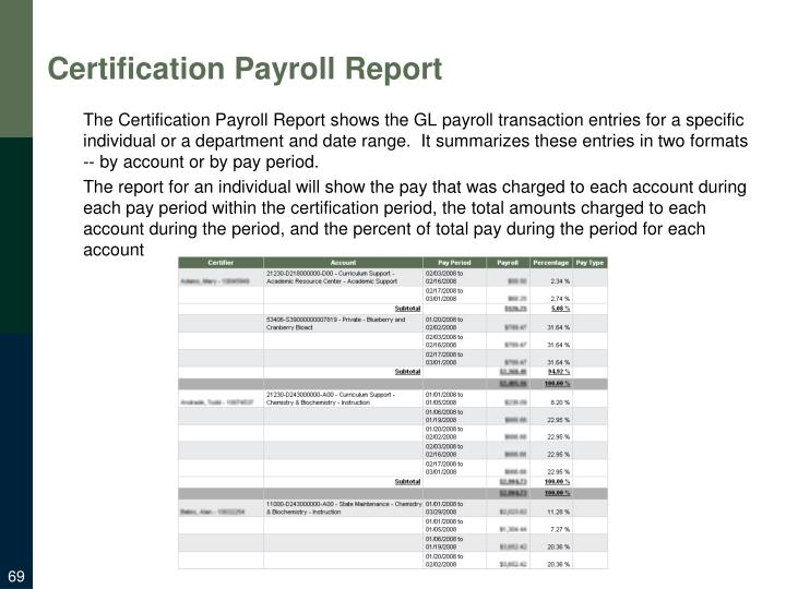 Certification Payroll Report