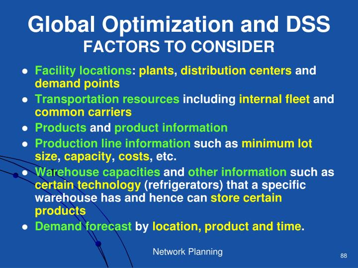 Global Optimization and DSS