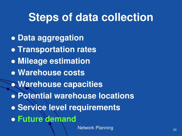 Steps of data collection