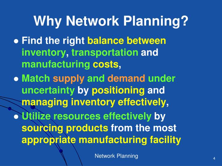 Why Network Planning?