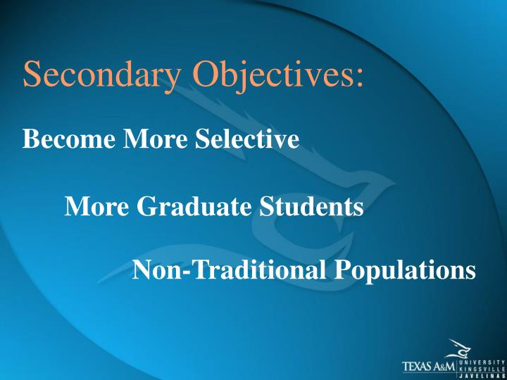 Secondary Objectives: