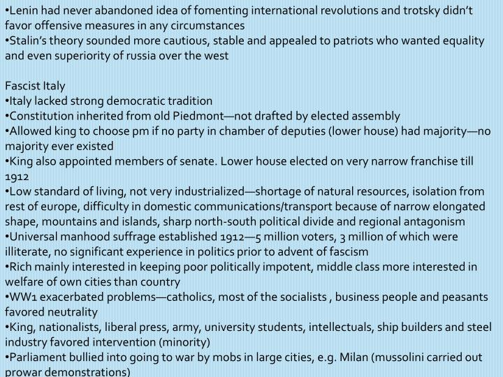 Lenin had never abandoned idea of fomenting international revolutions and