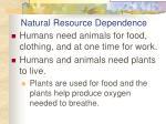 natural resource dependence