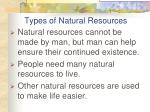 types of natural resources1