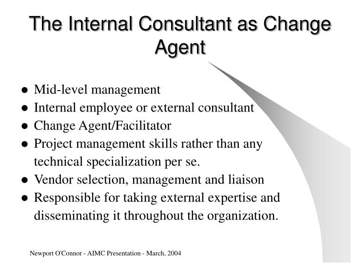 The internal consultant as change agent