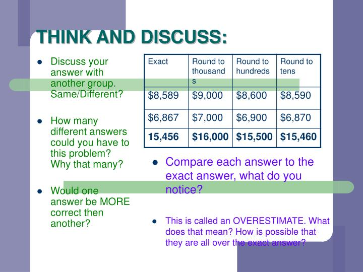 THINK AND DISCUSS: