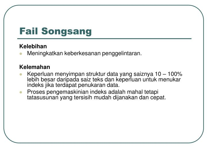 Fail Songsang