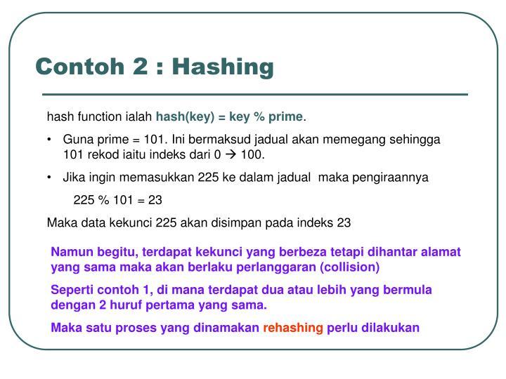 Contoh 2 : Hashing