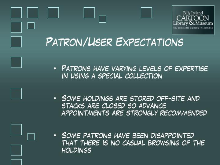 Patron/User Expectations