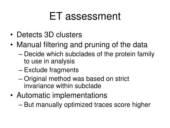 ET assessment