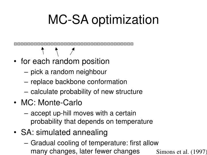 MC-SA optimization