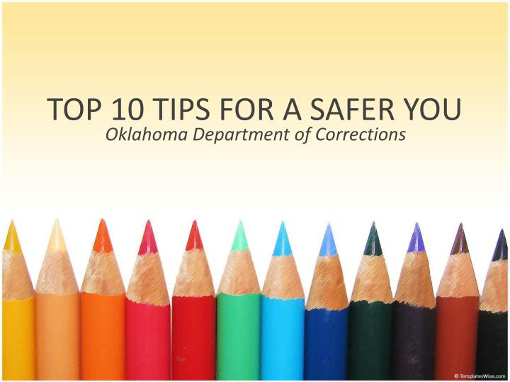 top 10 tips for a safer you n.