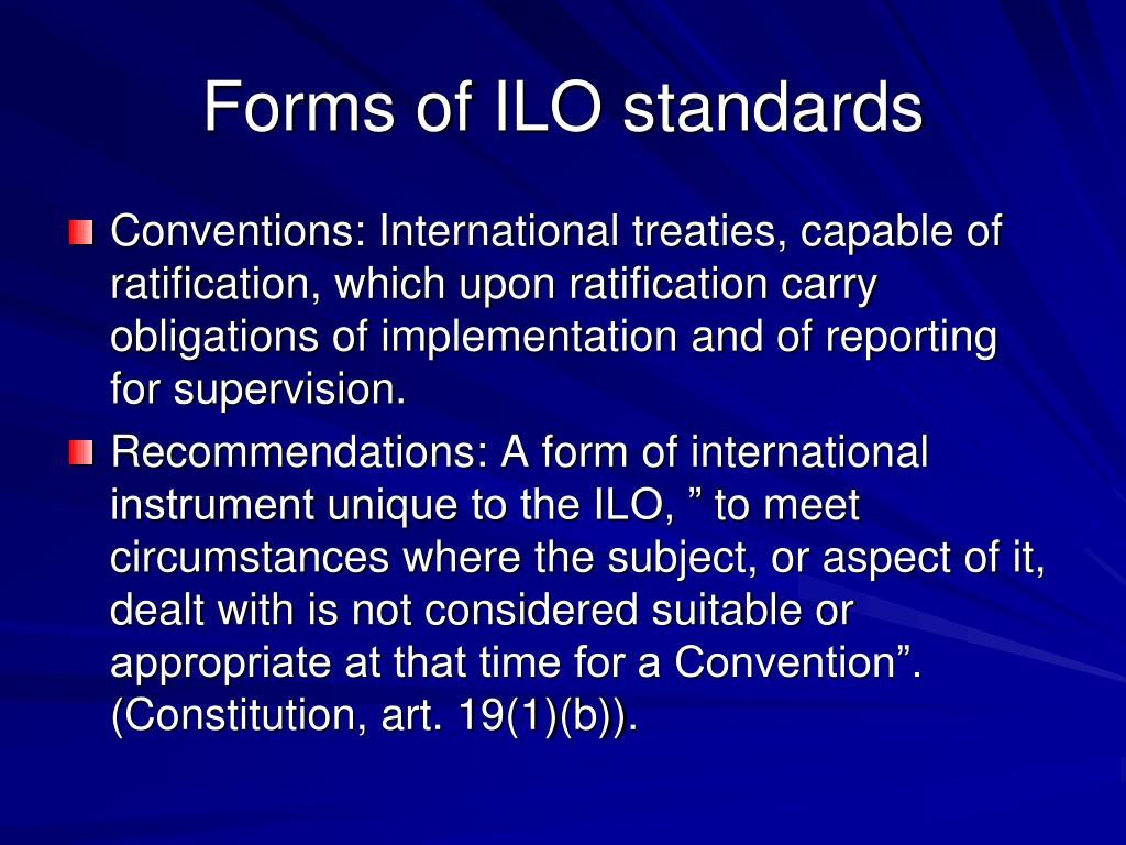 PPT - ILO Standards PowerPoint Presentation - ID:5933156
