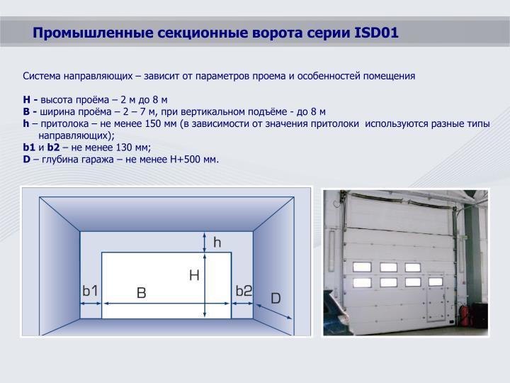 Система направляющих – зависит от параметров проема и особенностей помещения