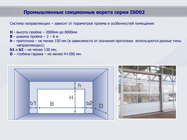 Промышленные секционные ворота серии ISD02