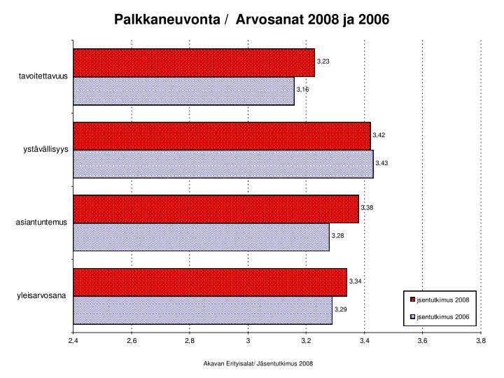 Palkkaneuvonta /  Arvosanat 2008 ja 2006