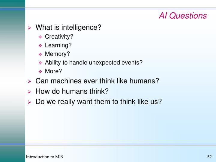 AI Questions