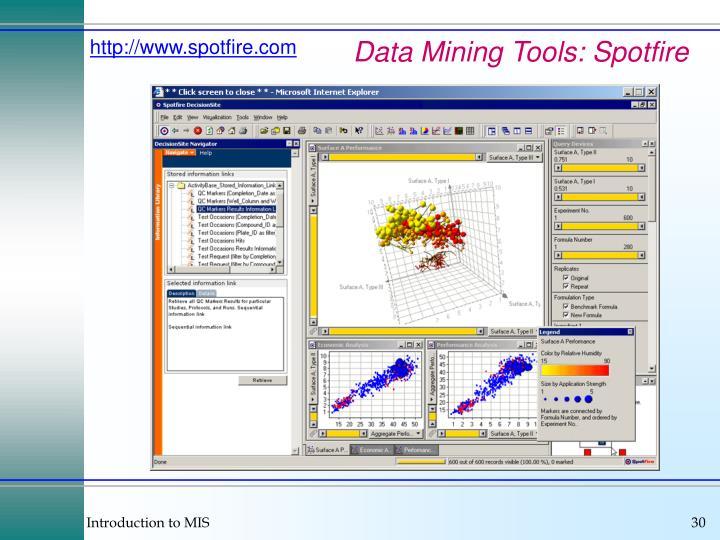 Data Mining Tools: Spotfire
