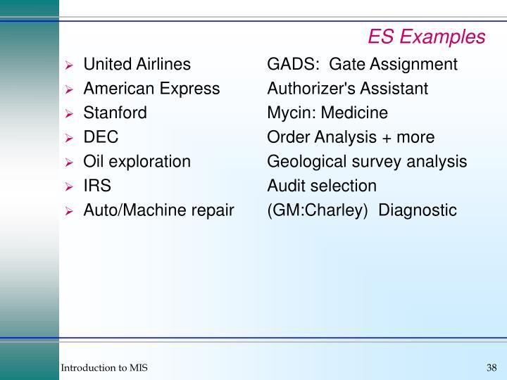 ES Examples