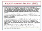 capital investment decision sec