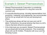 example 2 stewart pharmaceuticals