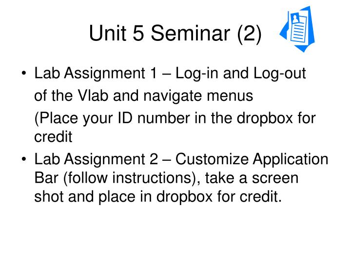 Unit 5 seminar 2