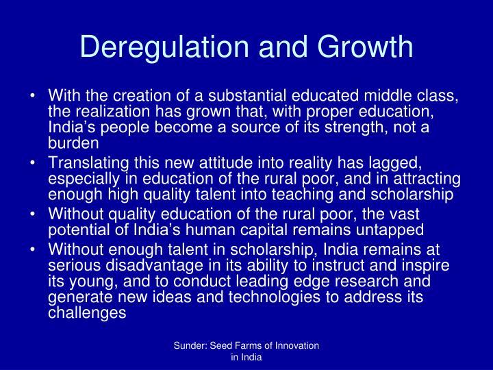 Deregulation and Growth